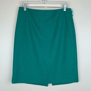 J. Crew Factory Wool Pencil Skirt 8 E3336